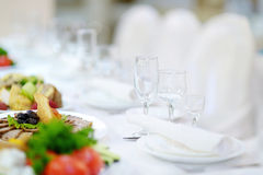 Table set for an event Royalty Free Stock Photos