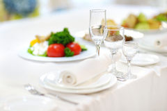 Table set for an event Royalty Free Stock Photography
