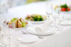 Table set for an event Stock Photography