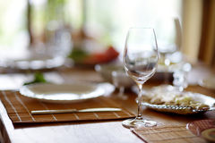 Table set for an event Stock Photos