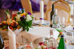 Table set for an event party Stock Photography