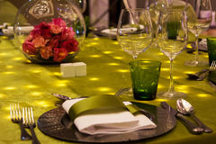 Table set for event party Stock Photography