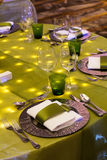 Table set for event party Stock Photo