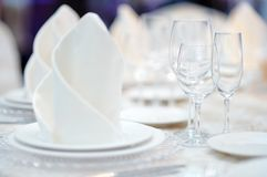 Table set for event party Stock Images