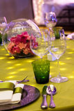 Table set for event party. Or wedding reception Stock Images