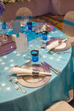 Table set for event party Royalty Free Stock Photo