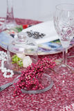 Table set for an event party or wedding Royalty Free Stock Image