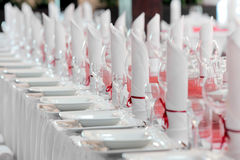 Table set for event party or wedding reception Royalty Free Stock Images