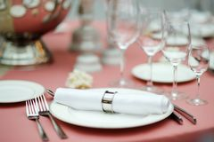 Table set for event party Royalty Free Stock Photography