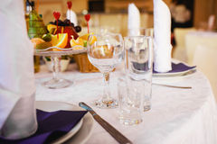 Table set for an event party Stock Images
