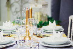 Table set for event party or wedding reception Stock Photography