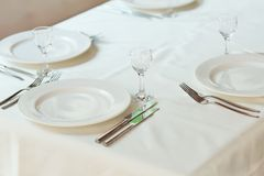 Table set for event. Royalty Free Stock Images