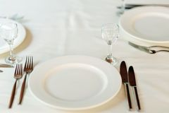 Table set for event. Stock Photo