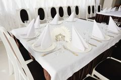 Table set for event. Stock Photography