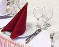 Table set for a festive dinner Stock Photography