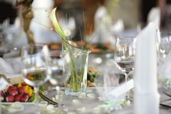 Table set for a festive party or dinner royalty free stock image
