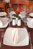 Table Set for fine Dining Royalty Free Stock Photo