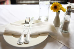 Table set with flower Royalty Free Stock Photography