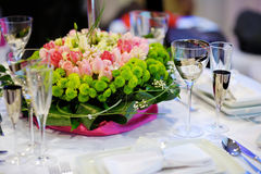 Free Table Set For An Event Party Stock Photos - 23511013