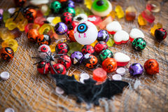 Table Set for Halloween Dinner Royalty Free Stock Photography