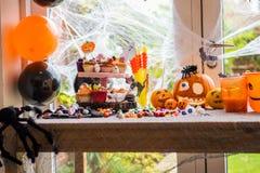 Table Set for Halloween Dinner Stock Image
