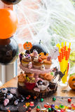 Table Set for Halloween Dinner Royalty Free Stock Images