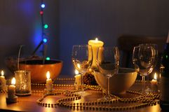 Table set for an home party Stock Image