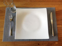 Table set for lunch Royalty Free Stock Photo