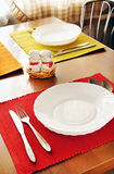 Table set for meal Stock Photo