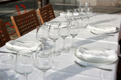 Table Set Of Ordinary Restaurant Stock Images