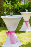Table set for outdoor summer wedding or event Stock Photography