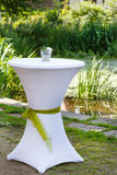 Table set for outdoor summer wedding or event Royalty Free Stock Photo