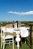 Table set outdoors Royalty Free Stock Images