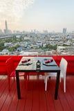 Table set outdoors. Royalty Free Stock Photos