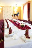 Table set for a party Stock Photos