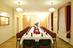 Table set for a party Stock Photo