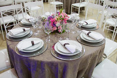 Table set for party Royalty Free Stock Image