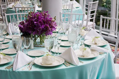 Table set for a party or function Royalty Free Stock Photography