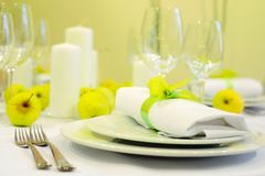 Table set for party or wedding royalty free stock photography