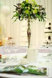 Table set for party or wedding Royalty Free Stock Photo