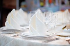 Table set for reception Royalty Free Stock Photography