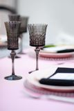 Table set for reception Royalty Free Stock Photo