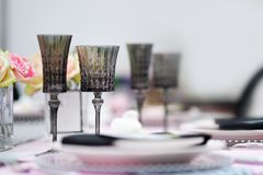 Table set for reception Royalty Free Stock Images