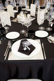A table set for a reception Royalty Free Stock Image
