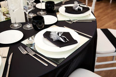 A table set for a reception Royalty Free Stock Photos