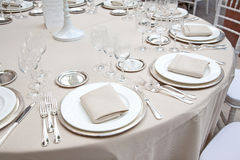 A table set for a reception Stock Image