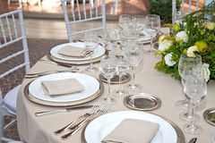 A table set for a reception Stock Photos