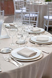 A table set for a reception Stock Photography