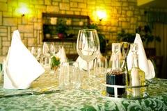 Table set restaurant Stock Image