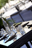 Table set in a restaurant Royalty Free Stock Image